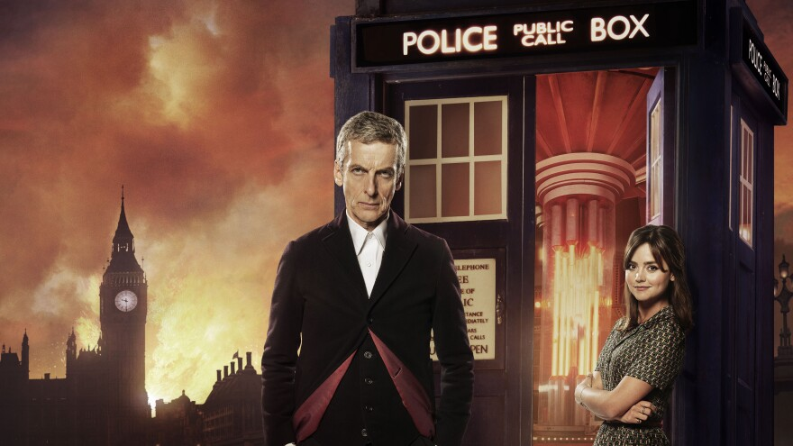 Peter Capaldi and Jenna Coleman star as The Doctor and Clara Oswald on the BBC science fiction drama <em>Doctor Who</em>.