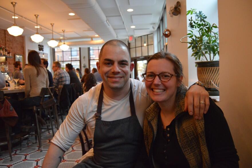 Chef Jose Salazar and Bethany Kramer at Salazar restaurant in Over the Rhine in Cincinnati.