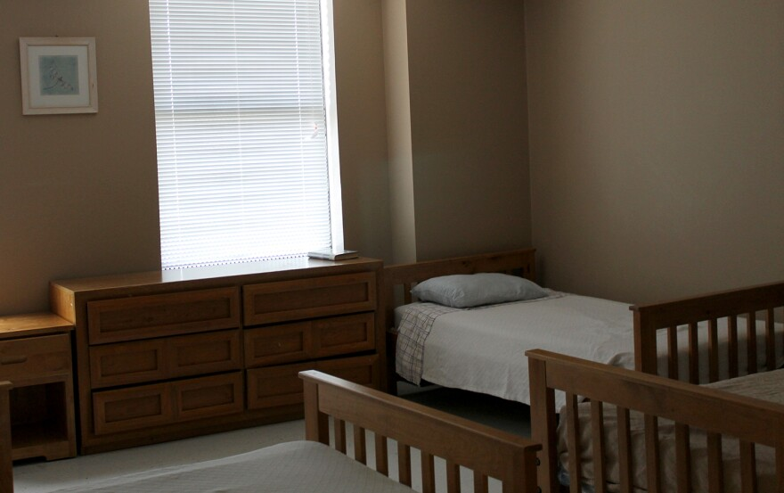 One of the rooms where people sleep while undergoing detox at Bridgeway Behavioral Health.