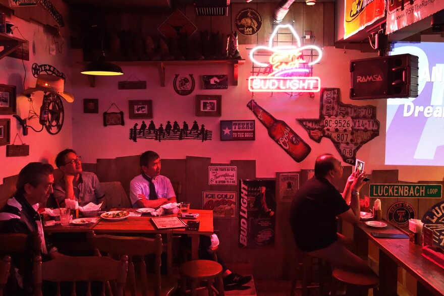 It's a basement bar in Tokyo, but patrons of Little Texas say the place feels like it's part of the Lone Star State.