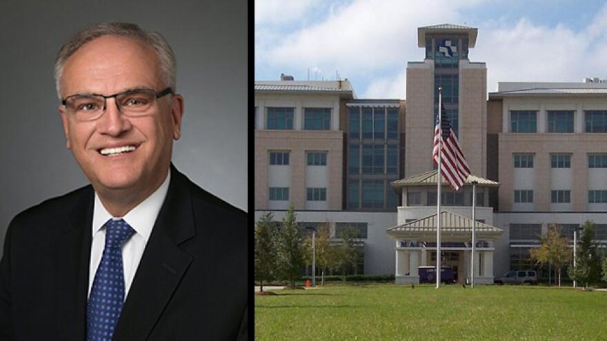 Left: Baptist Health CEO Hugh Greene, Right: Baptist Medical Center South hospital