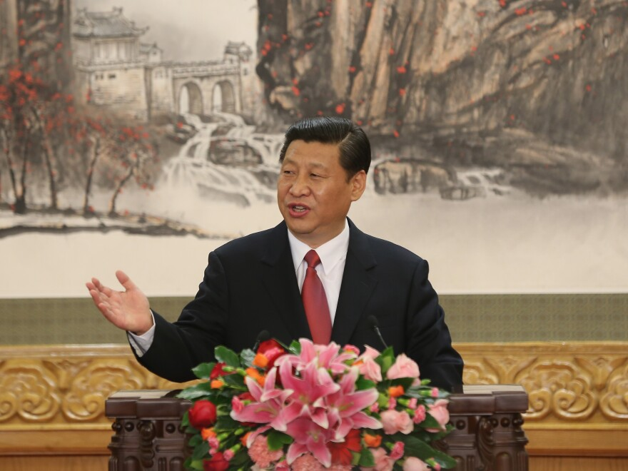 Peng's husband, Xi Jinping, assumed the top leadership post in China's Communist Party earlier this month and is expected to become the country's president next year. The two met in 1986, when she was already a star and he was a deputy mayor.