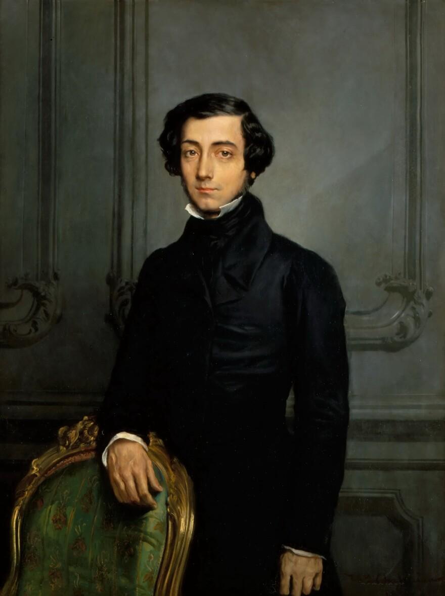 Portrait of Alexis de Tocqueville (1805-1859). Found in the collection of Musée de l'Histoire de France, Château de Versailles.