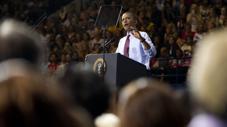 President Obama speaks about his new jobs proposal at the University of Richmond in Richmond, Va., on Friday.