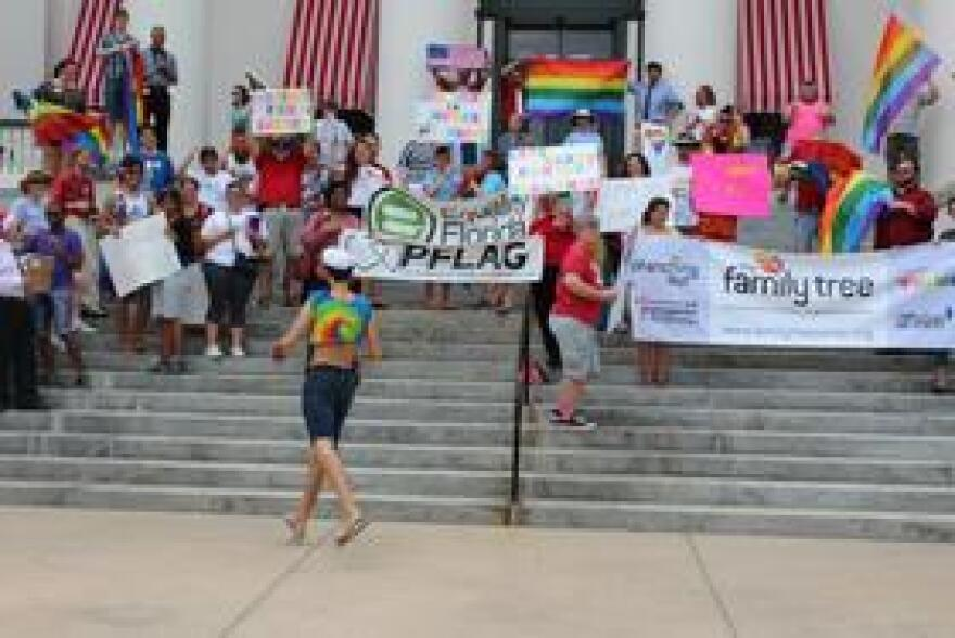 A celebration at Florida's Capitol in 2013 after the U.S. Supreme Court Struck down DOMA and California's Proposition 8.