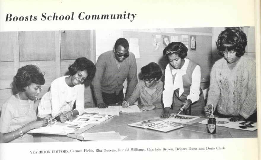 A page from Carmen Field's 1966 high school yearbook. Fields grew up in Tulsa, Okla., and says that in her segregated community, she felt supported, valued and welcomed.