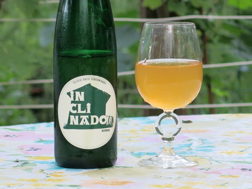 """Tilted Shed's """"Inclinado,"""" one of the few American impressions of Spanish-style sidra natural."""
