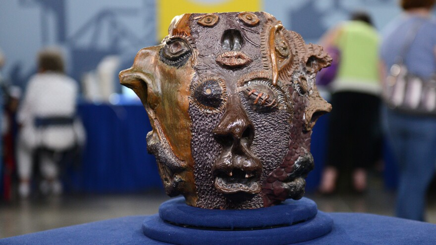 """""""The potter has used an impressive array of techniques to come up with this extraordinary texture,"""" an <em>Antiques Roadshow </em>appraiser said of this piece — which turned out to be a high school art project."""