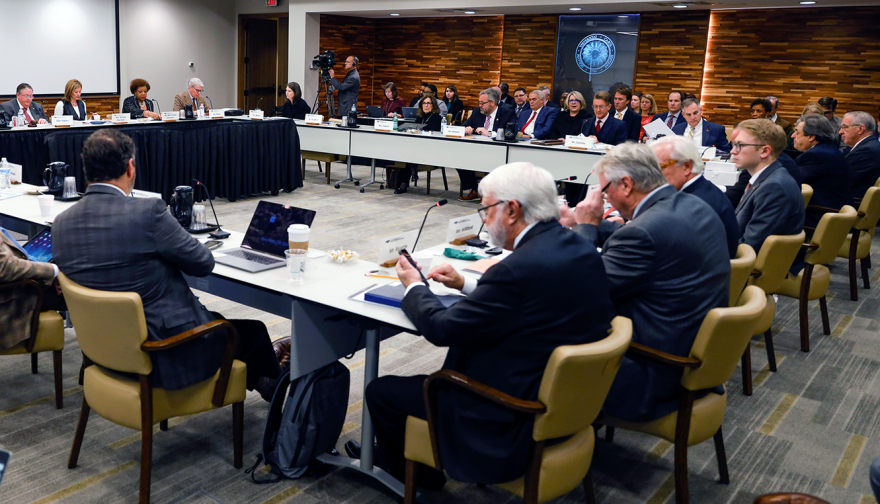 Image from the January 2020 University of North Carolina Board of Governors meeting.