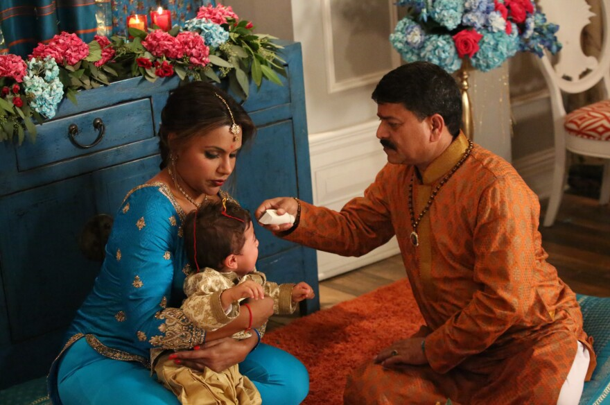 On a new episode of <em>The Mindy Project,</em> Dr. Mindy Lahiri decided to embrace her Indian roots, taking her son for a Hindu head-shaving ceremony.