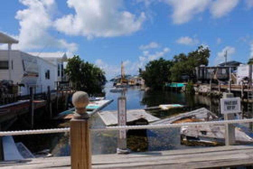 Federal money for cleaning up the canals in the Keys came much more quickly, from a different federal agency - the USDA.