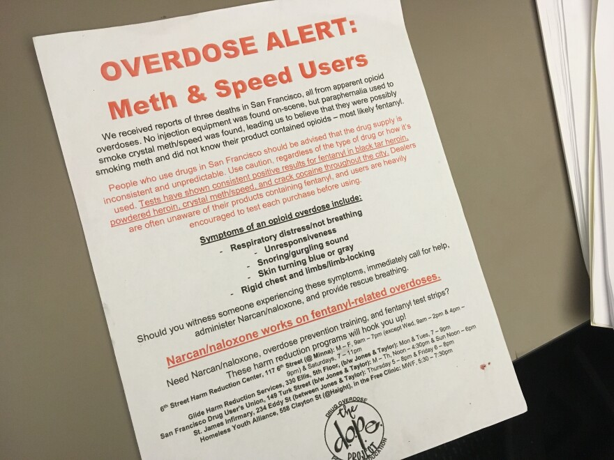 A meth overdose alert from the Drug Overdose Prevention and Education Project.