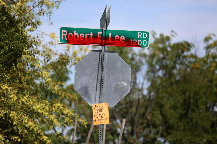 Vandalization of the Robert E. Lee Road sign in early 2018 sparked a conversation over whether the street should be renamed. The Austin City Council voted to change the name of the street honoring the Confederate general later that year.