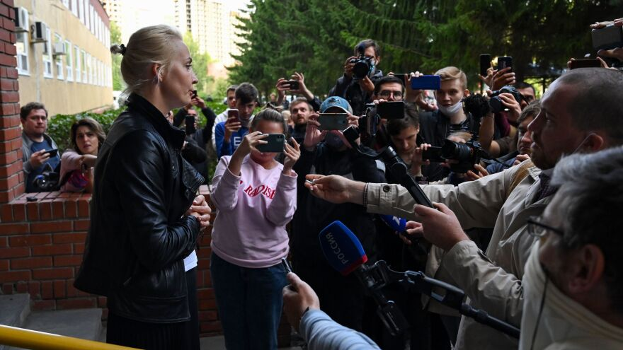 Yulia Navalnaya, wife of Russian opposition leader Alexei Navalny, says she has been blocked from seeing her husband and from moving him to a clinic in Berlin.