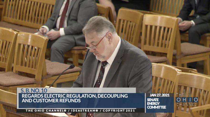 Sen. Mark Romanchuk (R-Mansfield) testifying for his bill SB10.