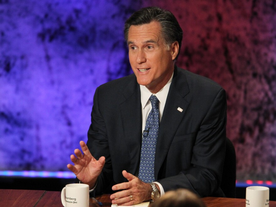 <p>Former Massachusetts Gov. Mitt Romney maintained his frontrunner status in the GOP presidential debate at Dartmouth College on Tuesday. </p>