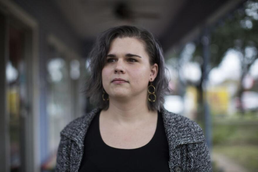 Anemone Schlotterbeck is a social worker at OutYouth. She says hate crime protections wouldn't necessarily ameliorate problems of discrimination and harassment faced by transgender Texans, but it may encourage more people to file police reports.