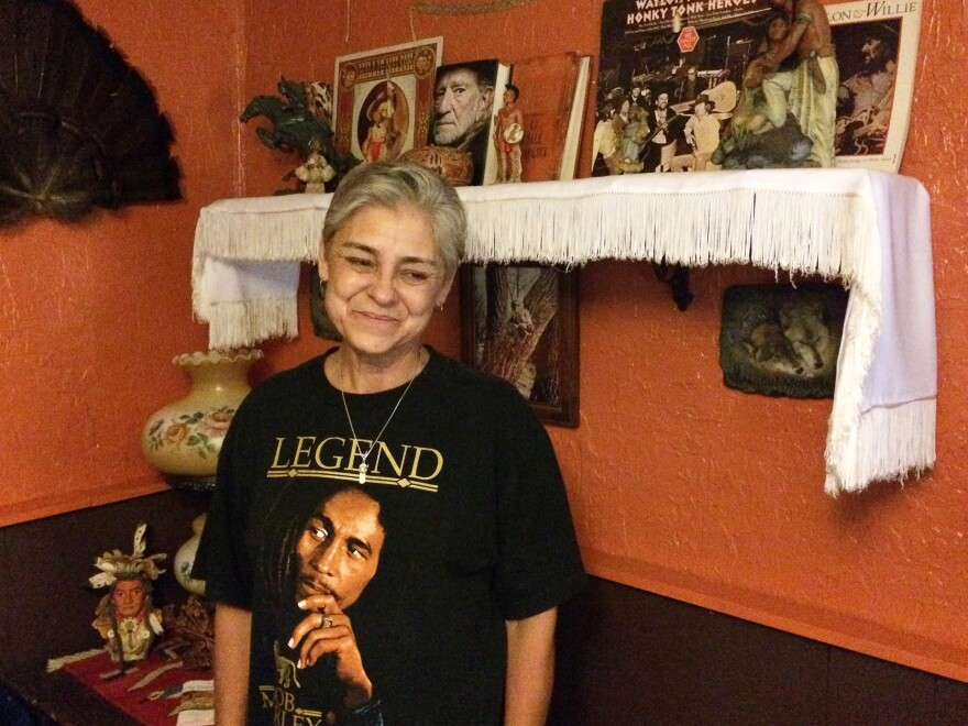 Jymie Jimerson collects Willie Nelson memorabilia in her home in remembrance of her late husband, Steve, who was a fan.