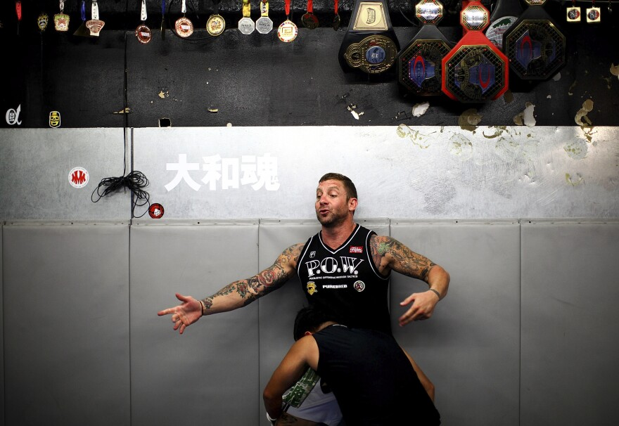 Iraq veteran Todd Vance is the founder of P.O.W. — or Pugilistic Offensive Warrior — mixed martial arts training for veterans in San Diego.