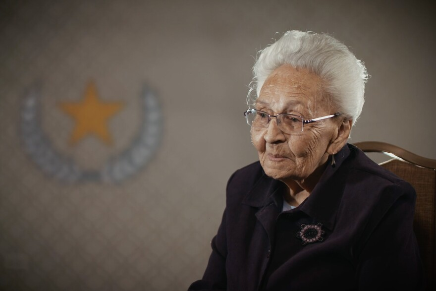 Marcella LeBeau, a 101-year-old former Army nurse.