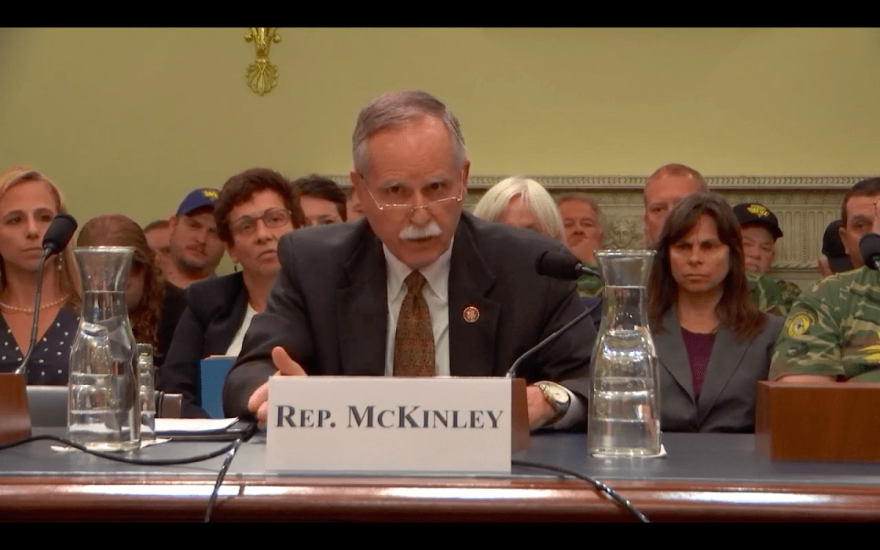 Rep. David McKinley testified before the House Subcommittee on Energy and Mineral Resources Wednesday.