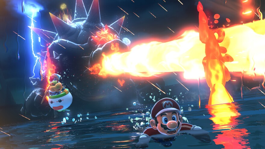 Dodging Bowser's fiery wrath is one of the hardest tasks in<em> Bowser's Fury. </em>