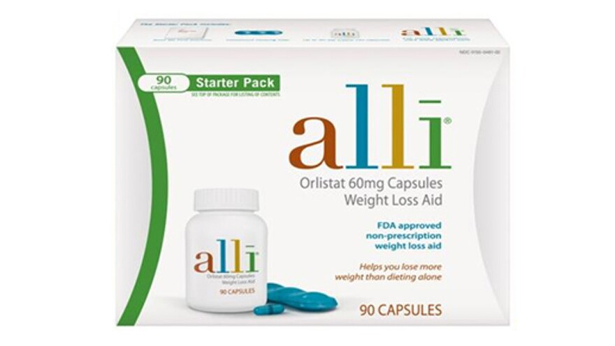 The package for the weight-loss drug alli should look like this.
