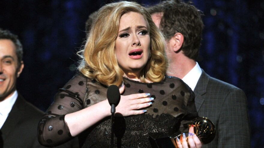 """Adele won the song of the year category at this year's Grammy Awards for her tear-jerker """"Someone Like You."""""""