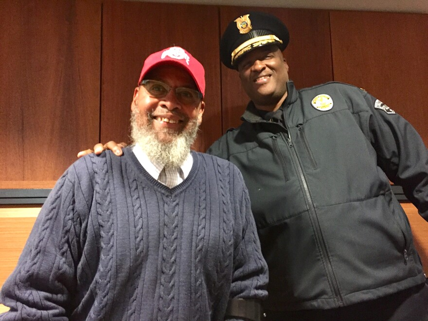 Former Ward Two Trotwood City Councilman Rap Hankins and Trotwood Police Chief Erik Wilson.