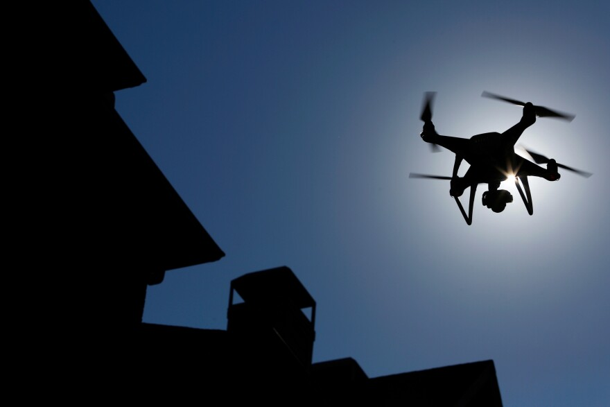 A drone is flown during a property inspection following Hurricane Harvey in Houston. The mass destruction brought on by Harvey has been a seminal moment for drone operators, proving that they can effectively map flooding, locate people in need of rescue and verify damage to speed insurance claims.