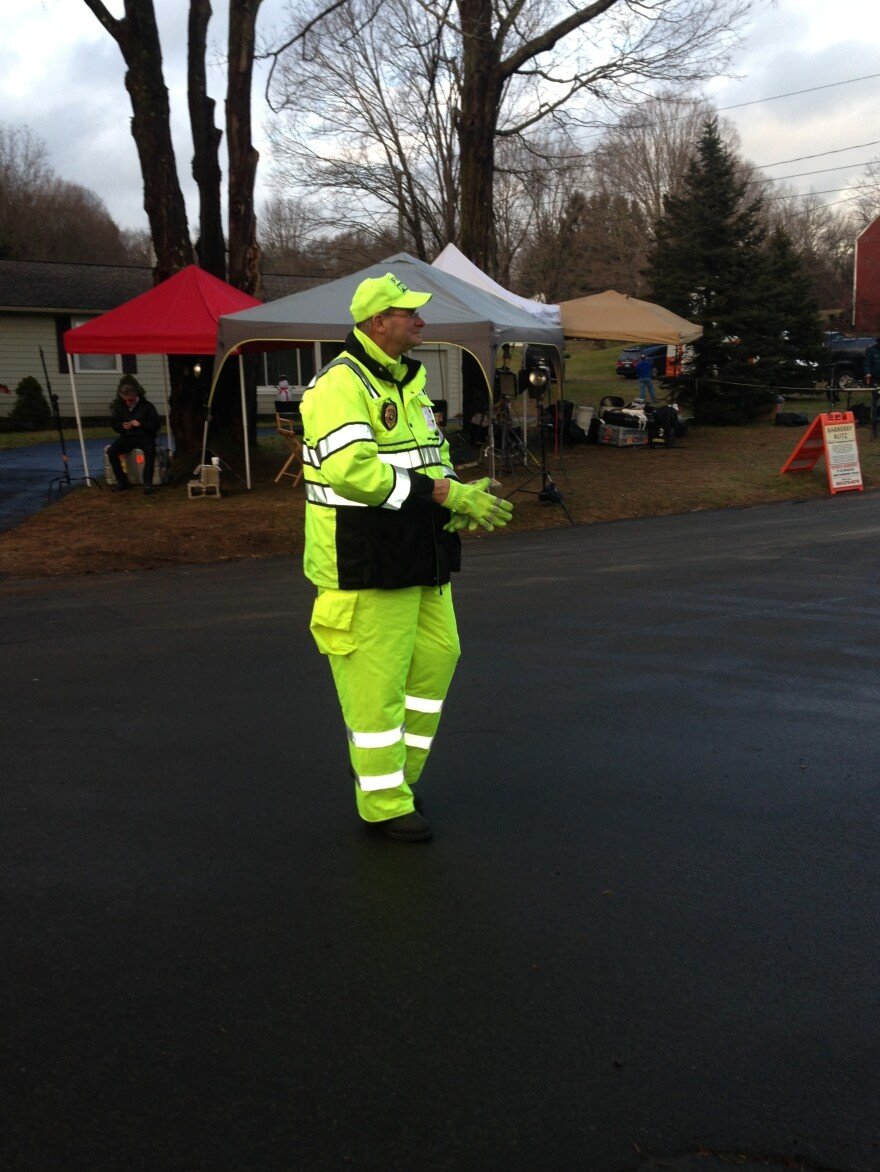 """""""We're holding up the best that we can"""" after Friday's shootings, says Sandy Hook volunteer firefighter Anthony """"Chip"""" Carpenter."""