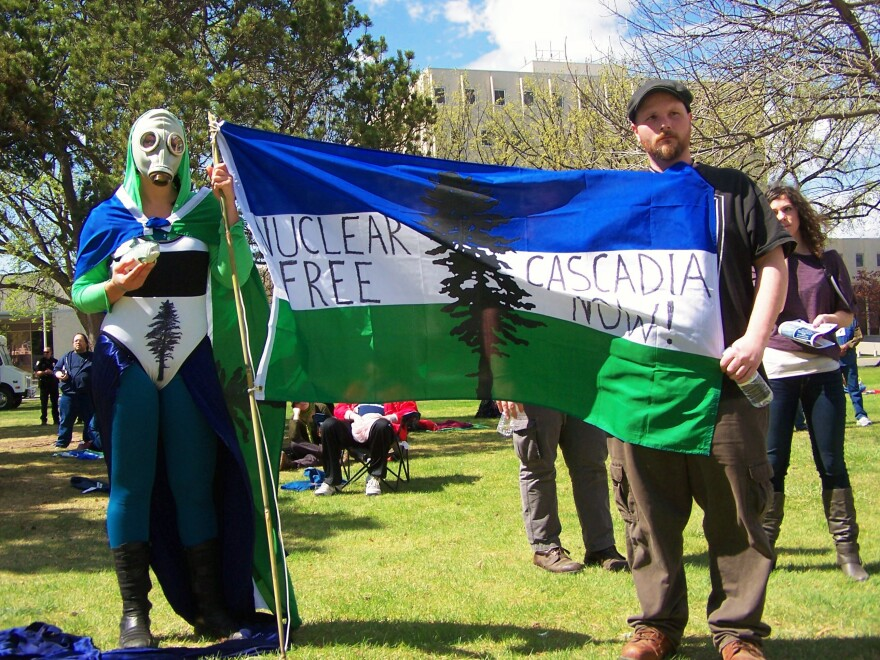 Cascadia supporters flag