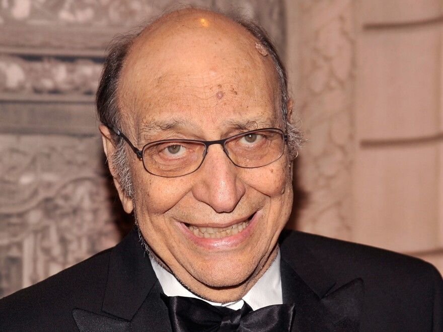 Graphic designer Milton Glaser is seen at the 2010 National Design Awards Gala on October 14, 2010 in New York City. Glaser died on June 26, 2020 at 91.