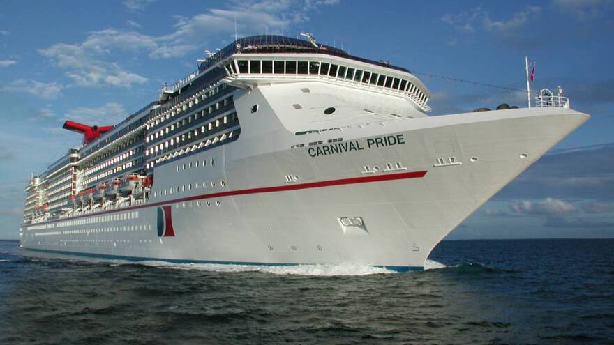Carnival Cruise Line will be the first to resume visits to the Freeport after Hurricane Dorian on Friday, Oct. 11, with its Carnival Pride ship from Baltimore.