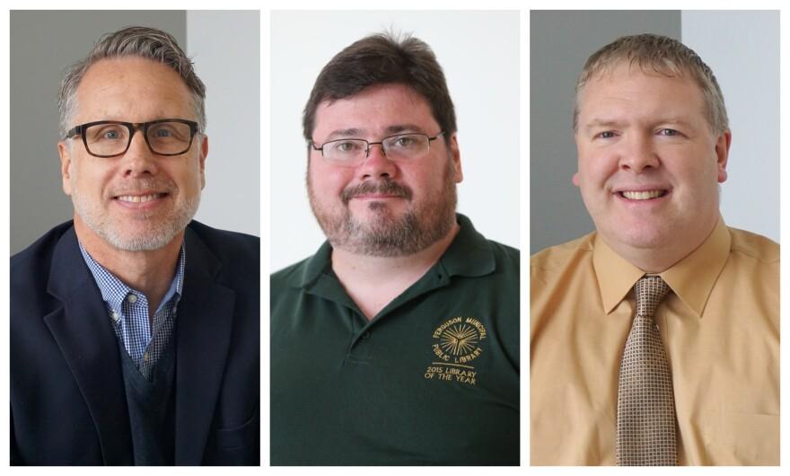 John Mueller (at left), Scott Bonner (center) and Steve Campbell joined Tuesday's talk show.