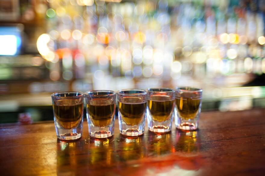 row of shots at a bar - photo by Caleb Miller.jpg