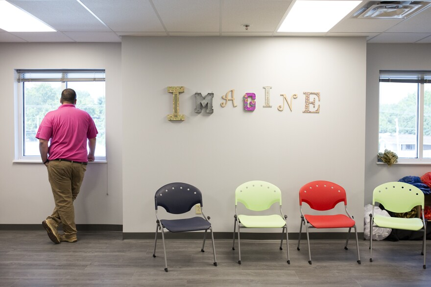 Visitors check out the second floor of the new Ferguson Community Empowerment Center. July 26, 2017