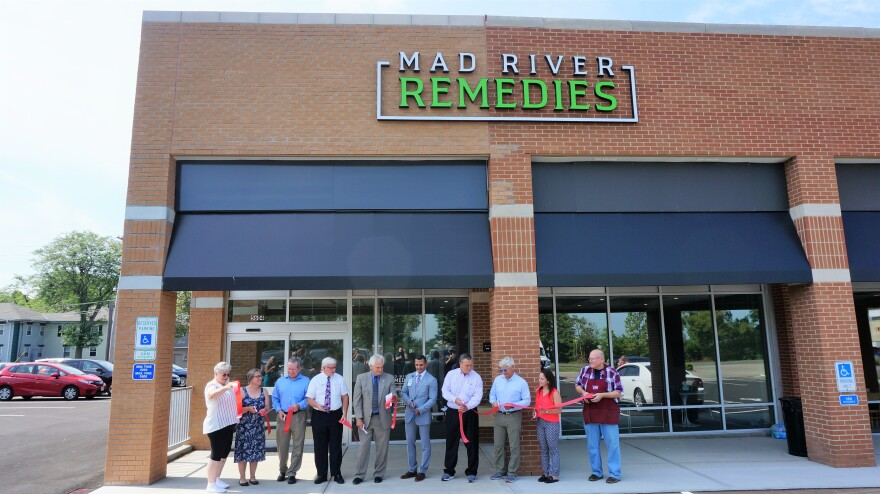 The Riverside Mayor and Chamber of Commerce officials came out for a ribbon-cutting at Mad River Remedies, the first medical marijuana dispensary to open in the Miami Valley.