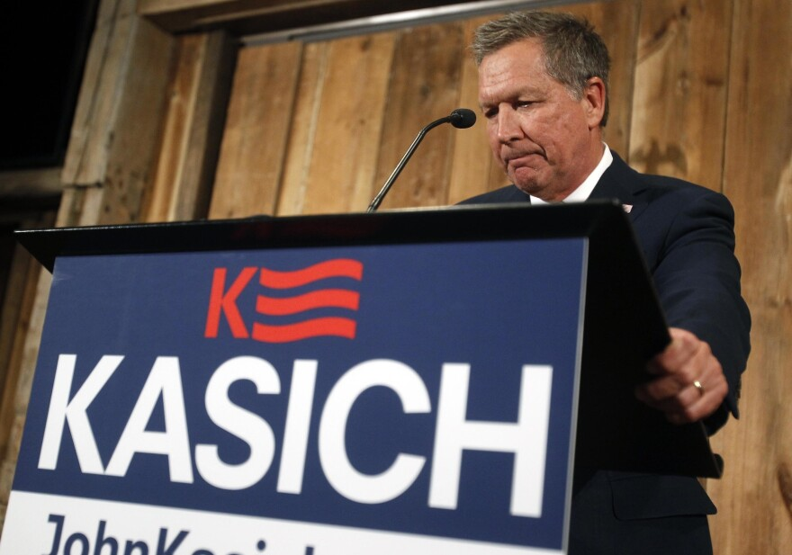 Republican presidential candidate Gov. John Kasich announced the suspension of his campaign on Wednesday in Columbus, Ohio.