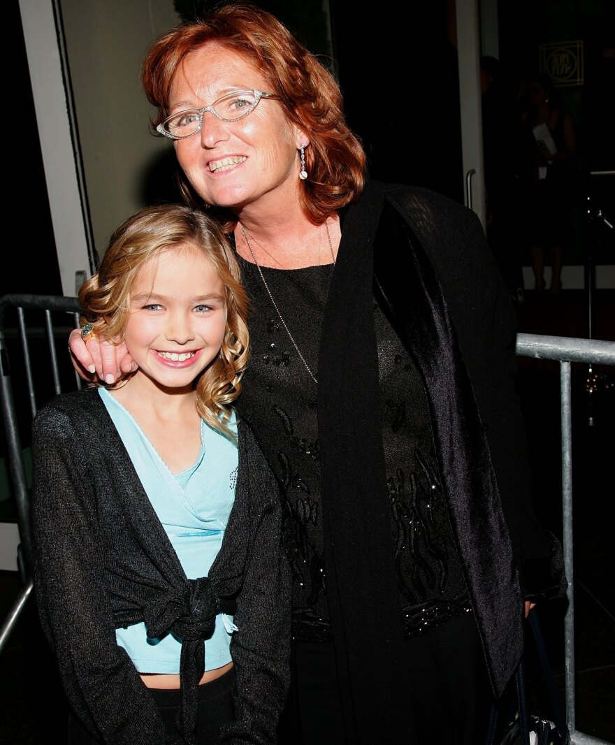 Courtney Kennedy Hill and her daughter Saoirse Kennedy Hill attend an event in New York City in 2006.