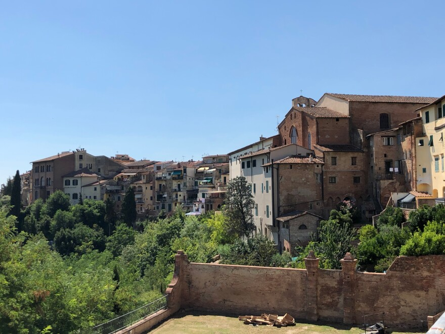 One place in Tuscany where migrants are still welcomed is San Miniato, a medieval town halfway between Pisa and Florence, perched on sloping hills dotted with olive groves.  Many migrants have found jobs in local tanneries that produce Tuscany's luxury leather goods — jobs that many Italians don't want.