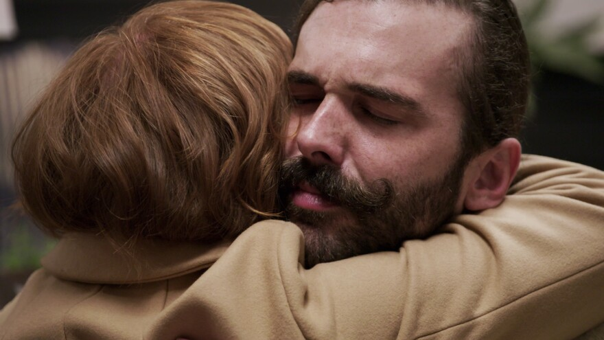 Jonathan Van Ness embraces a participant on Season 4 of <em>Queer Eye</em>. Following the success of the reboot, Netflix has made kindness a key element of its unscripted and competition programming.