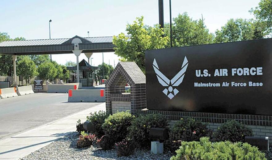 Malmstrom Air Force Base main gate, 2008.
