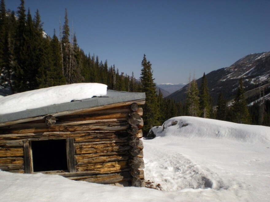 The Conundrum Creek Cabin where the cows met their unfortunate end. Photo taken on April 6.