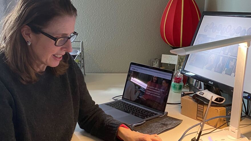 Kate Walton, the CEO of Steyer Content, in her home office on Bainbridge Island, a ferry ride away from Seattle. Her company does $9 million in sales annually, providing marketing materials for companies such as Microsoft.