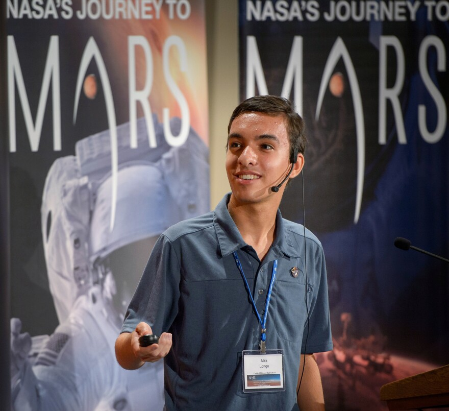 """Alex Longo says he initially submitted his proposal in hopes of """"having a small say"""" in where the next Mars rover lands, and maybe getting some cool NASA swag. But scientists are seriously considering his ideas."""