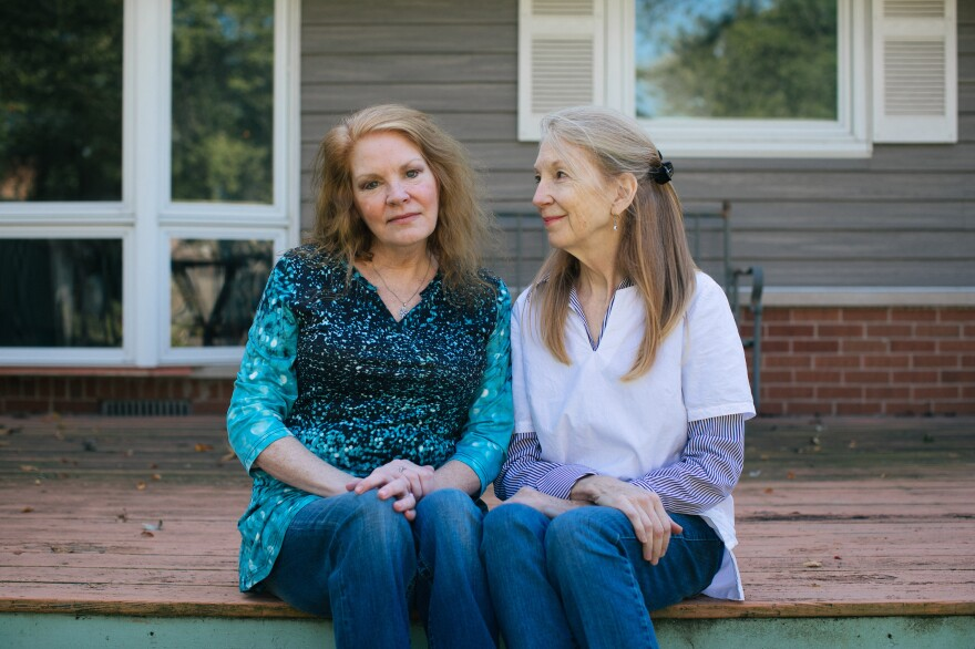 Arline Feilen (left) and her sister, Kathy McCoy, at their mother's home in the Chicago suburbs. The biggest chunk of Feilen's bill was $16,480 for four nights in a room shared with another patient. McCoy joked that it would have been cheaper to stay at the Ritz-Carlton.