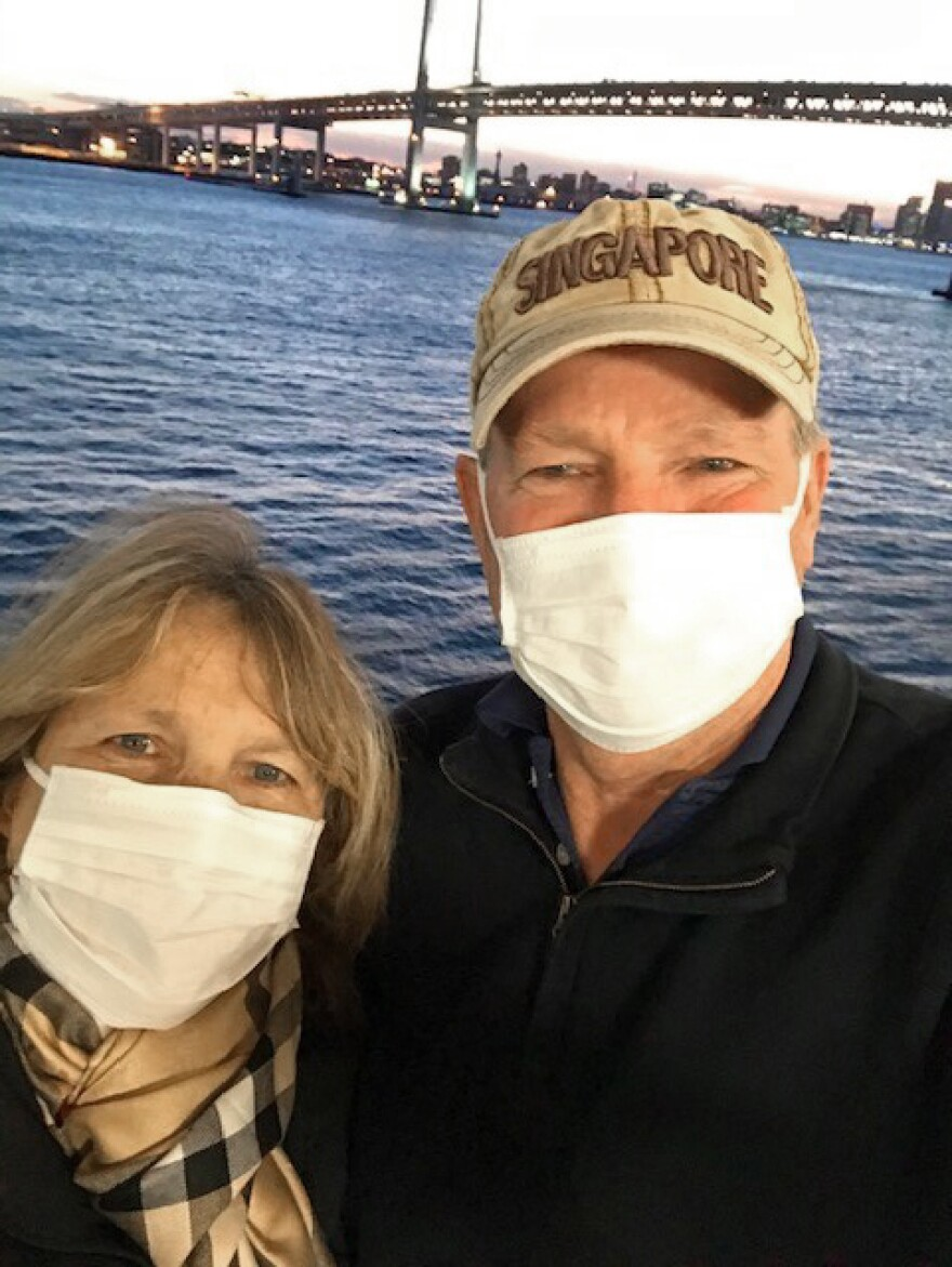 Melanie and John Haering contracted COVID-19 on the Diamond Princess cruise ship. BioLife, a paid plasma collection site, gave them gift cards totaling $800 for donations of their blood plasma.