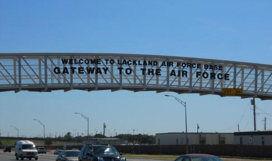 Lackland Airforce base sign