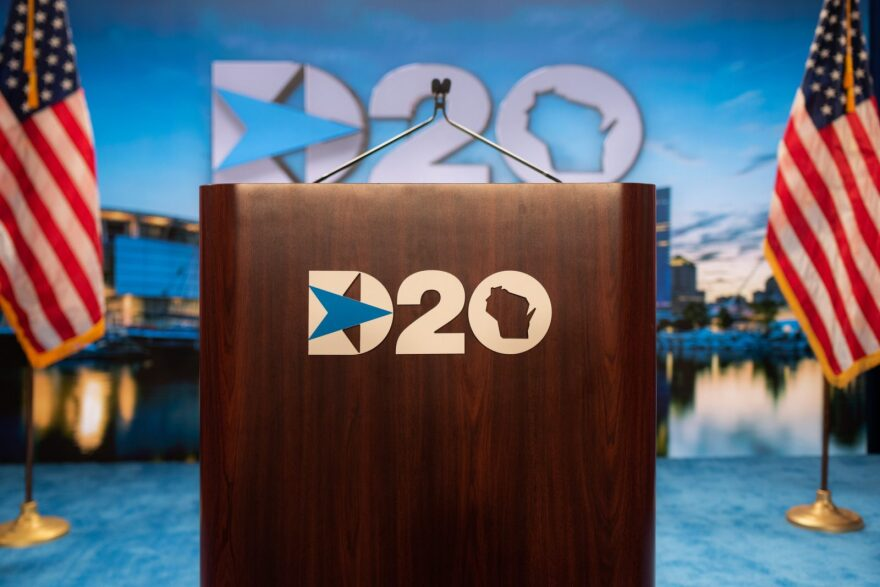 The Milwaukee stage of the 2020 Democratic National Convention.